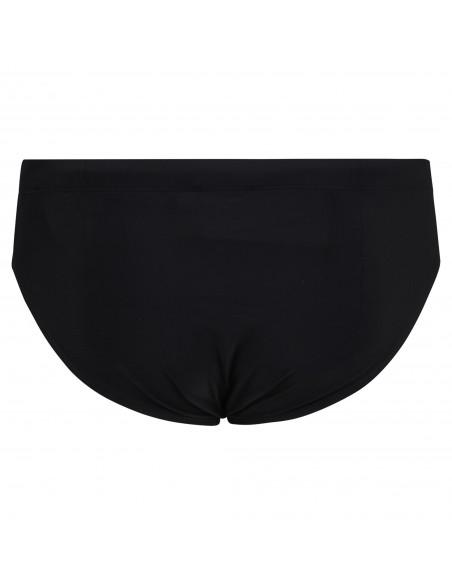 Iceberg Beachwear - Slip mare nero con stampa logo laterale e coulisse per uomo