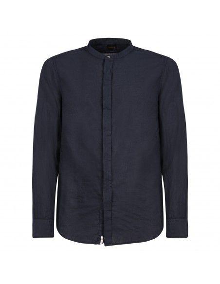Officina36 - Camicia blu coreana per uomo | 3925 elton 0392508099 blu