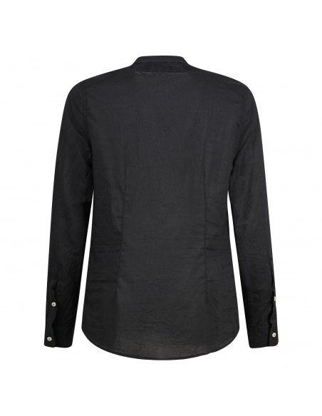 Officina36 - Camicia nera coreana per uomo | 3925 elton 0392508099 nero