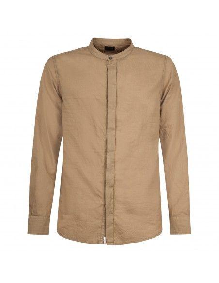 Officina36 - Camicia beige coreana per uomo | 3925 elton 0392508099 deserto