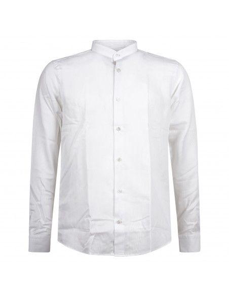 Lavorazione Sartoriale - Camicia bianca coreana custom fit con lavorazione per