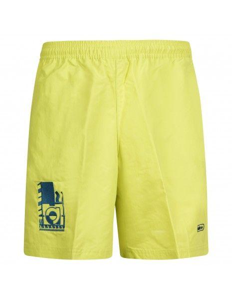 Adidas Originals - Bermuda gialla con coulisse e ricamo logo per uomo | gn3857