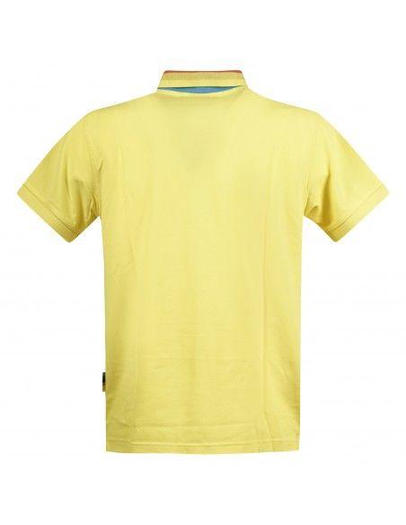 - Polo gialla manica corta con taschino per uomo | a30132-23