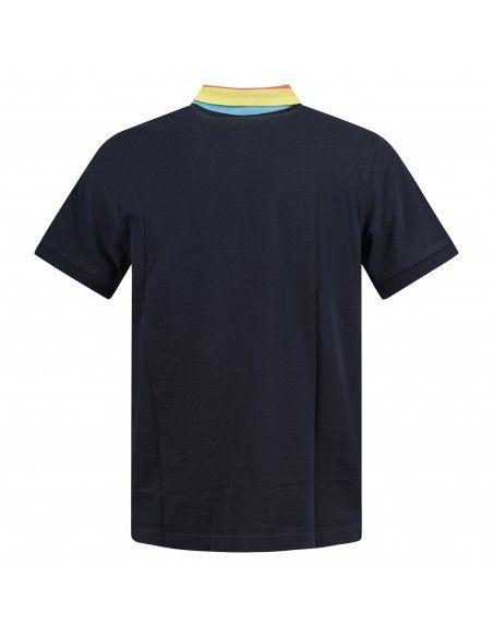 - Polo blu manica corta con taschino per uomo | a30132-07 navy blue