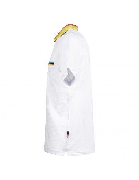 - Polo bianca manica corta con taschino per uomo | a30132-01 bianco