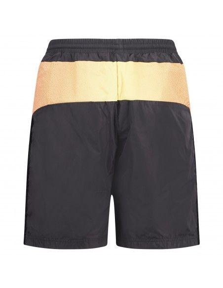 Adidas Originals - Bermuda nera in tessuto tecnico con logo per uomo | gn2467