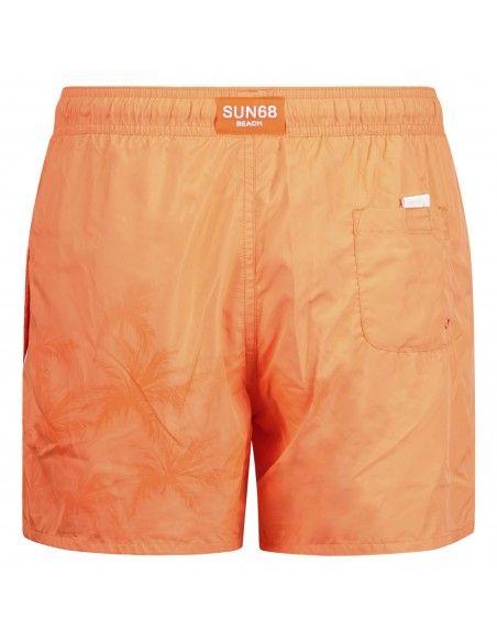 Sun68 - Bermuda mare arancio con tecnologia reattiva in acqua per uomo | h19104