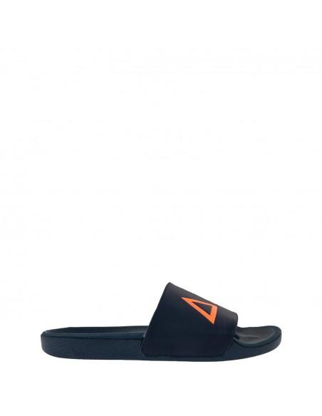 Sun68 - Sandali blu con stampa logo per uomo   x30103 07 navy blue
