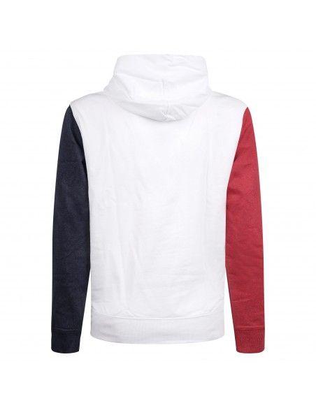 Tommy Jeans - Felpa multicolore con cappuccio e con logo ricamato per uomo |