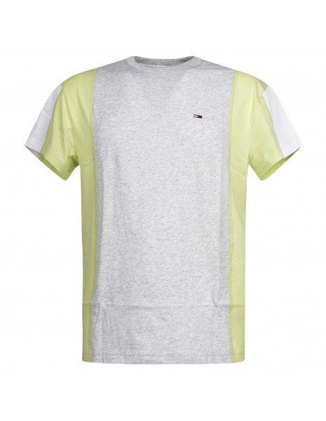 Tommy Jeans - T-shirt multicolore manica corta con patch logo per uomo |