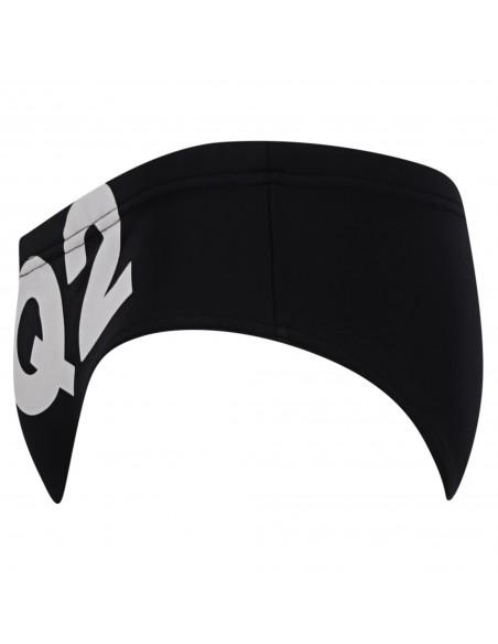 Dsquared2 - Slip mare nero con stampa logo frontale per uomo   d7b452350 201