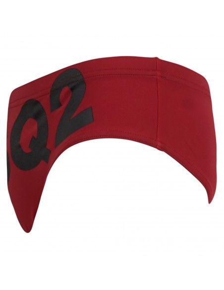 Dsquared2 - Slip mare rosso con stampa logo frontale per uomo | d7b452350 402