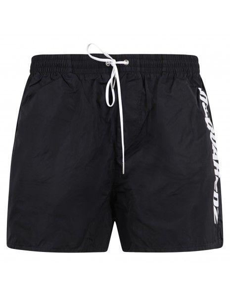 Dsquared2 - Bermuda mare nero con stampa logobianca per uomo | d7b64292 010