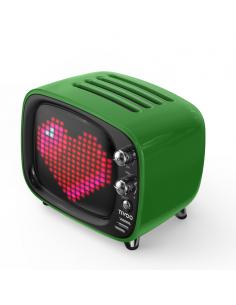 Speaker tv verde con applicazioni