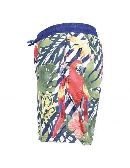 Invicta - Bermuda mare bluette stampa papagalli per uomo | 4449145/u12