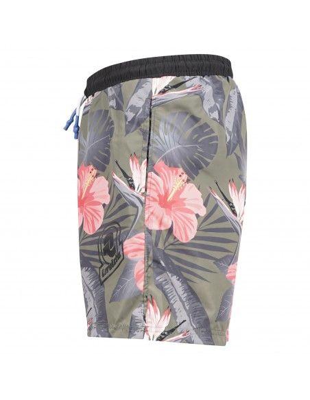 Invicta - Bermuda mare verde militare stampa fiori per uomo | 4449142/u37