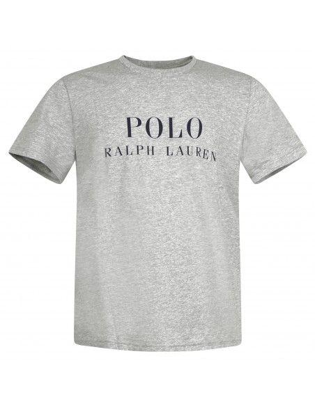 Polo Ralph Lauren - T-shirt grigia con logo stampato sul fronte per uomo |
