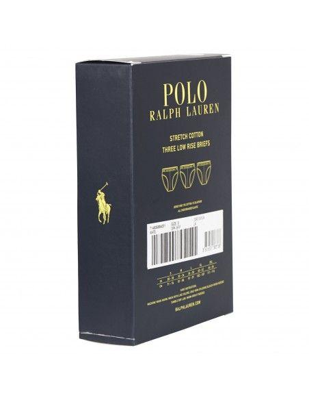 Polo Ralph Lauren - Set slip bianchi da 3 pezzi con elastico per uomo |