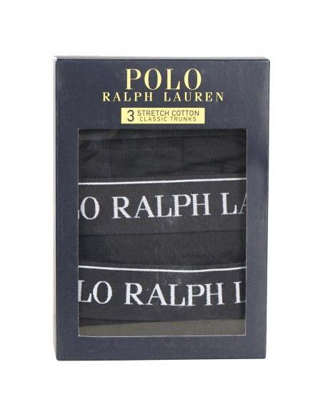 Polo Ralph Lauren - Set boxer neri da 3 pezzi con elastico per uomo  