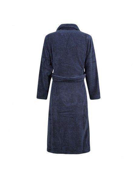 Polo Ralph Lauren - Accappatoio blu in cotone con logo ricamato sul petto per