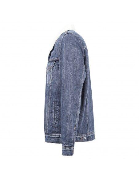 Levi's - Giubbotto in jeans denim con pelliccia per uomo   16365-0128