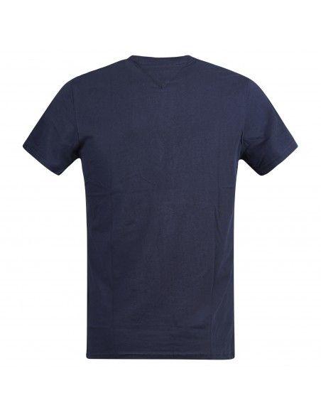 Tommy Jeans - T-shirt blu manica corta con stampa logo per uomo | dm0dm09717 c87