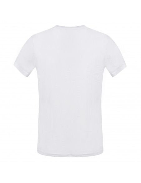 Tommy Jeans - T-shirt bianco manica corta con stampa logo per uomo |