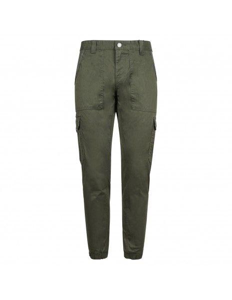 Tommy Jeans - Pantalone verde con tascone laterali per uomo | dm0dm09660mrz