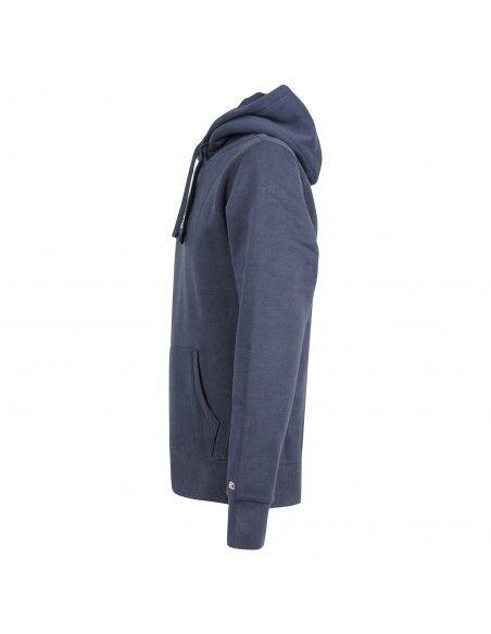 Tommy Jeans - Felpa blu girocollo con logo ricamato sul fronte per uomo  