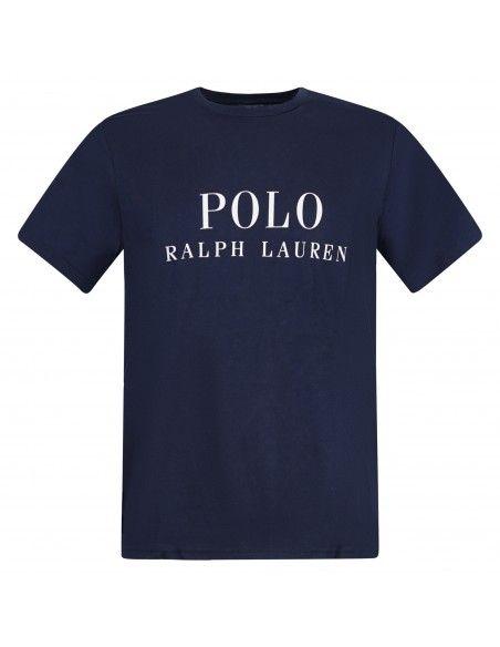 Polo Ralph Lauren - T-shirt blu con logo stampato sul fronte per uomo  