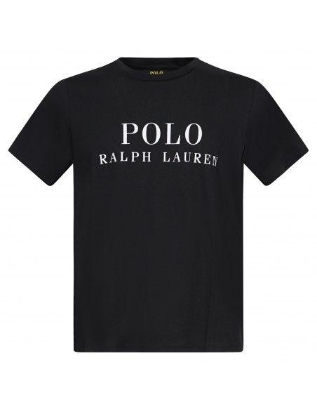 Polo Ralph Lauren - T-shirt nera con logo stampato sul fronte per uomo  
