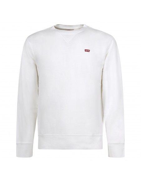 Levi's - Felpa bianca girocollo con patch logo per uomo   35909-0000