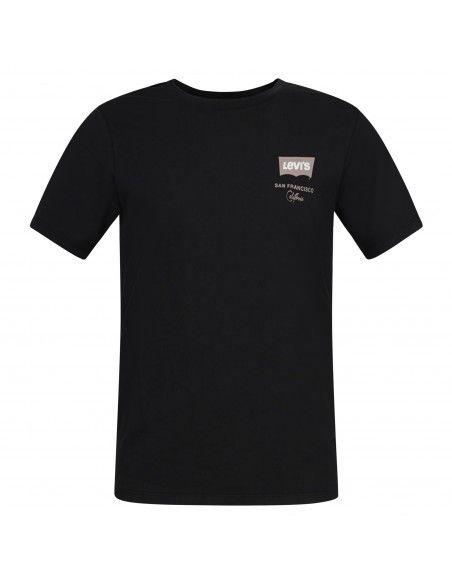 Levi's - T-shirt nera manica corta con stampa logo per uomo | 22489-0429
