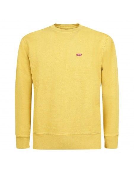 Levi's - Felpa gialla girocollo con patch logo per uomo   34257-0011