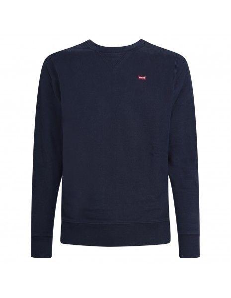 Levi's - Felpa blu girocollo con patch logo per uomo | 35909-0001