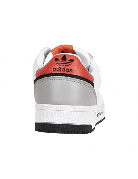 Adidas Originals - Sneakers bianca in pelle con dettagli in arancio per uomo |