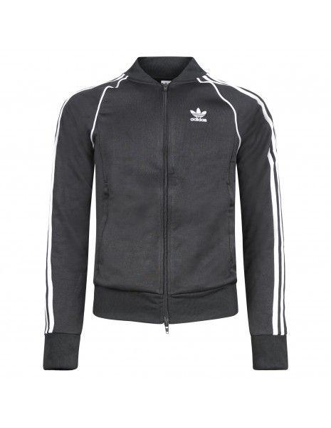 Adidas Originals - Felpa con zip e logo sul petto per uomo   gf0198