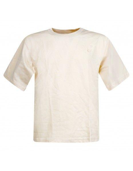 Adidas Originals - T-shirt beige con logo applicato sul petto per uomo | fm9966
