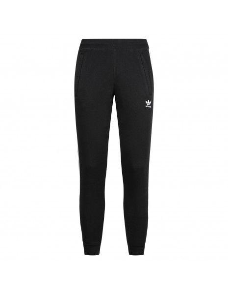 Adidas Originals - Pantalone tuta nero con tre strisce per uomo | gn3458