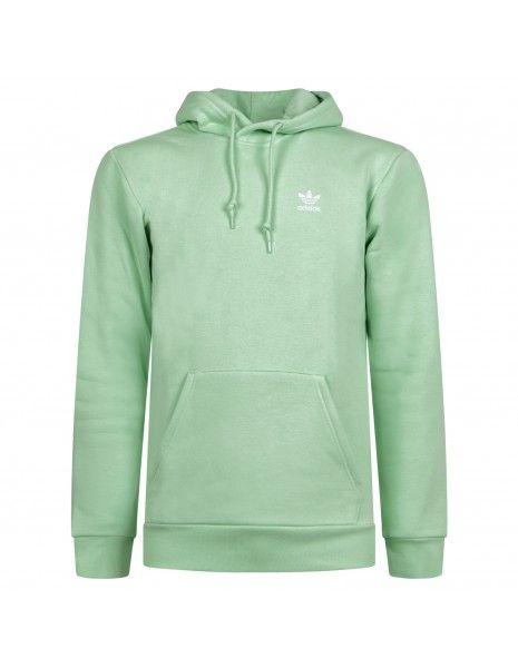 Adidas Originals - Felpa verde chiaro con cappuccio e logo per uomo | h34648