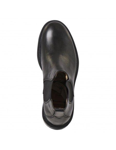 Antica Cuoieria - Stivaletto nero pelle con elastico per uomo   22190-r-vd8
