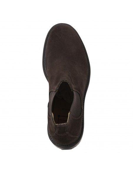 Antica Cuoieria - Stivaletto marrone camoscio con elastico per uomo  