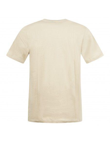 Adidas Originals - T-shirt beige con logo ricamato per uomo   h34634