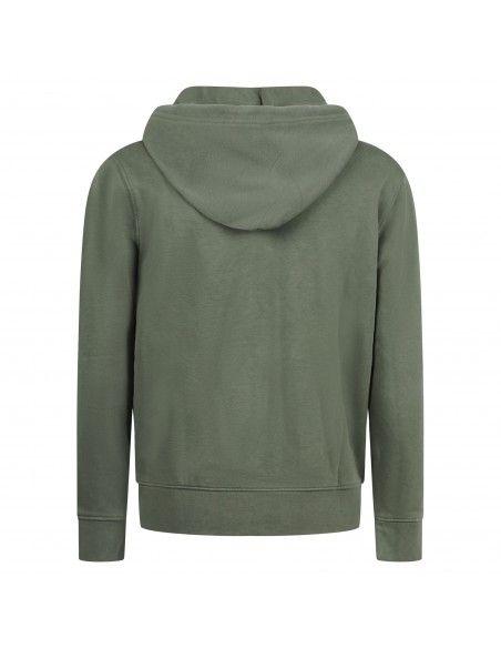 Levi's - Felpa verde zip con cappuccio e ricamo logo per uomo | 34259-0006