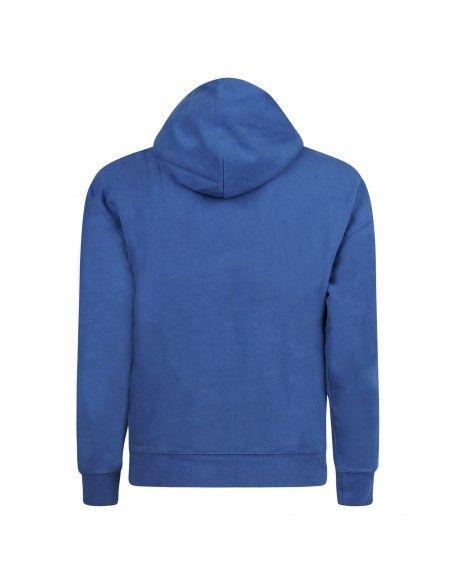 Levi's - Felpa blu cappuccio con ricamo logo sul petto per uomo   a0747-0012