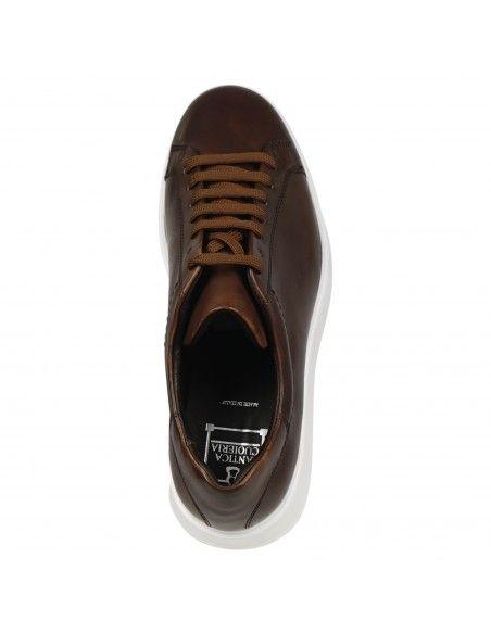 Antica Cuoieria - Sneakers marrone basse pelle per uomo   22381-z-v55