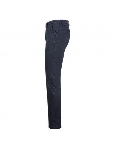 Luca Bertelli - Pantalone blu tasca a filo per uomo   p1700 skin