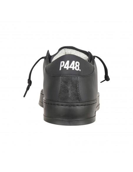 P448 - Scarpa in pelle nera con logo traforato per uomo | f21jack-m deepblk