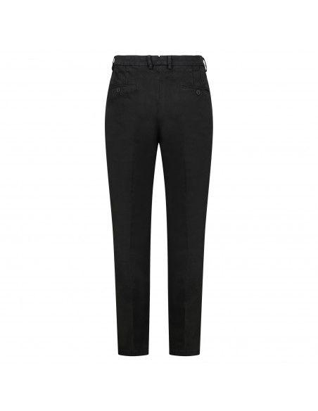 Luca Bertelli - Pantalone nero tasca a filo regular per uomo   p1701louis