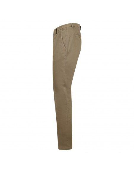 Luca Bertelli - Pantalone beige tasca a filo regular per uomo   p1701louis
